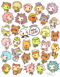 by birduyen: animal crossing npc stickers