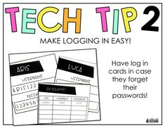 Technology in the Classroom: Make logging in EASY!