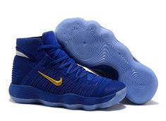 new style b0f28 7be60 Nike Hyperdunk 2017 Cool Nike Hyperdunk 2017 High Royal Blue Gold Basketball  Shoe For Discount
