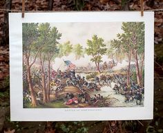 Antique Civil War Prints   Battle of Spottsylvania   Kurz and Allison   Bourbon & Boots