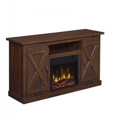 """Show details for Cottonwood 47"""" TV Stand with Fireplace *D"""