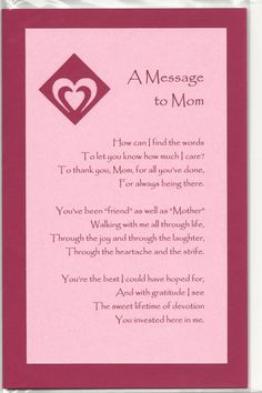 Handmade Greeting Card Mother's Day Embellished by JoniqueCards, $5.00