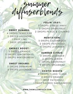 The best summer diffuser blends using Young Living Essential Oils. Essential Oils Guide, Essential Oil Uses, Doterra Essential Oils, Yl Oils, Patchouli Essential Oil, Essential Oil Diffuser Blends, Doterra Diffuser, Aromatherapy Oils, Aromatherapy Recipes