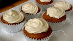 Pumpkin Cupcakes Recipe - Laura in the Kitchen - Internet Cooking Show Starring Laura Vitale