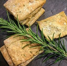 Rosemary and sea salt buckwheat crackers