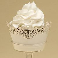 Cross Cupcake Wrappers.  12/pkg, $14.95 baptism