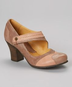 Another great find on #zulily! Brown & Tan Leather Mary Jane #zulilyfinds