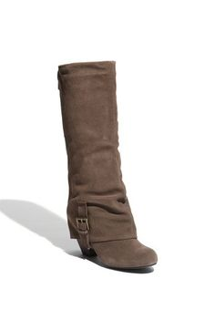 These Naughty Monkey 'Jump Start' Boots will give my fall wardrobe a jump start ; Suede Boots, Heeled Boots, Bootie Boots, Cute Shoes, Me Too Shoes, Monkey Jump, Over Boots, Crazy Shoes, Fashion Shoes