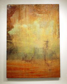 40x56 acrylic on steel...lots of the natural rusted steel showing through