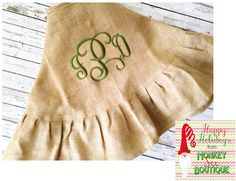 46 Ruffled Burlap Christmas Tree Skirt
