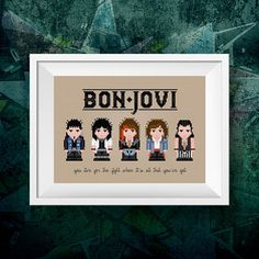 Bon Jovi Cross Stitc