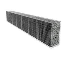 vidaXL Gabionová zeď s víkem 600x50x100 cm od vidaXL.cz ► Doprava zdarma ► Velký výběr ► Snadný a bezpečný nákup