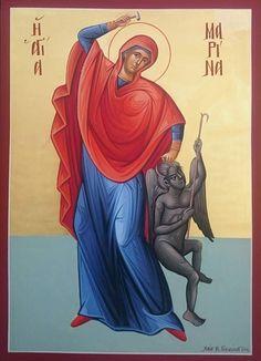 Fighting Demons, Byzantine Icons, Orthodox Christianity, Orthodox Icons, Christian Art, Saints, Spirituality, Catholic Art, Spiritual