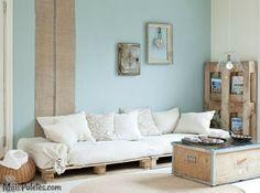 www.maispaletes.com #palletsofa #palletfurniture #decoration