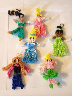 Disney Princess Characters made with by LoomedTreasuresbyZan, $25.00