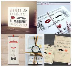 Fan de moustache ? Mariage #hispter bientôt ? Ce faire-part est pour vous ! #wedding #mariage