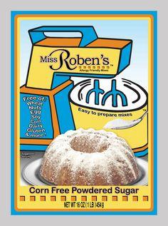 Corn Free Powdered Sugar | Miss Roben's Baking Mixes