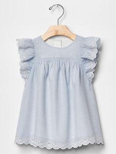 Eyelet flutter dress Product Image