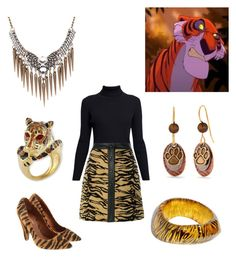 """""""Shere Khan from Disney's Jungle Book"""" by vicipokemon ❤ liked on Polyvore featuring Rumour London, Vintage, ADAM, Mulberry, Kenneth Jay Lane and Silver Forest"""