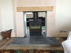 Kernow Fires Woodwarm Fireview doublesided wood burning stove installation in Cornwall.
