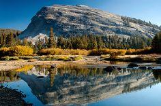 Lembert Dome Reflection Tuolumne Meadows Yosemite National Park California