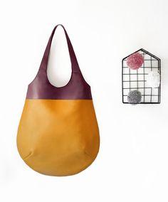Manici porta borse - Nù Bo' Bicolor - pancia Ocra - un prodotto unico di ISABO-bags-and-good-ideas su DaWanda