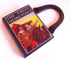 The Three Musketeers Recycled Book Purse - PreOrder - All For One and One For All