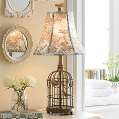 bird cage lamp.