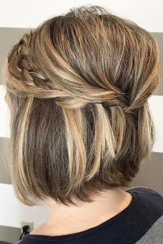 Wedding Updos For Short Hair ❤︎ Wedding planning ideas & inspiration. Weddin… Wedding Updos For Short Hair ❤︎ Wedding planning ideas & inspiration. Wedding dresses, decor, and lots more. Hairstyles With Bangs, Braided Hairstyles, Wedding Hairstyles, Cool Hairstyles, Hairstyles Pictures, Baddie Hairstyles, Hairstyles 2016, Formal Hairstyles, Latest Hairstyles