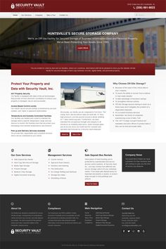 Security Vault, Inc. custom #webdesign. #joomla #inspiration #corporate #bootstrap #responsive #corporate