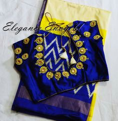 Simple Blouse Designs, Stylish Blouse Design, Silk Saree Blouse Designs, Blouse Neck Designs, Maggam Work Designs, Designer Blouse Patterns, Blouse Models, Work Blouse, Maggam Works