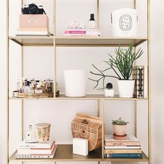 """I put up a video styling these shelves! It features me saying """"hmm I think I like it"""" a lot..."""