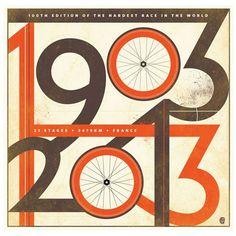 Omaggio al Tour de France in 23 poster e illustrazioni |  #CICLOGRAFICA | #Bici #vintage #restaurate | #oldstyle #retro #bike #bicycle #velo #poster #illustration #graphics #type #Tour #Tourdefrance #TourdeFrance2014