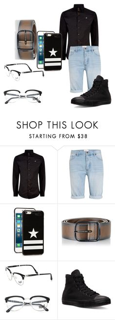 """""""Sem título #407"""" by alessandra-guimaraes on Polyvore featuring moda, Vivienne Westwood, Topman, Givenchy, Diesel, Persol e Converse"""