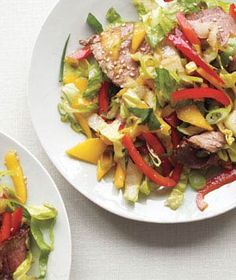 Asian Steak Salad With Mango| hearty main-course salad.