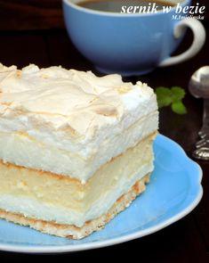 Domowa Cukierenka - Domowa Kuchnia: sernik w bezie Pumpkin Spice Latte, No Bake Cake, Vanilla Cake, Sweet Recipes, Sweet Tooth, Sweet Treats, Cheesecake, Mango, Food And Drink
