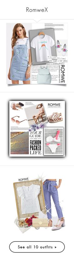 """""""RomweX"""" by gold-phoenix ❤ liked on Polyvore featuring Bloomingdale's, Laura Mercier, LSA International, Esschert Design, Rifle Paper Co, Simplex Apparel, H&M and Avon"""