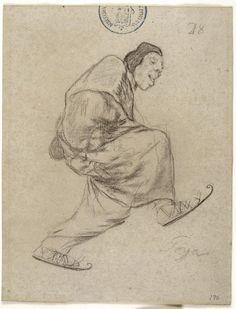 Francisco de Goya - El lego de los patines, Álbum H nº 28, 1824-28