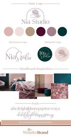 Logo Branding, Branding Design, Typography Logo, Florist Logo, Business Logo Design, Business Branding, E Commerce, Grafik Design, Identity