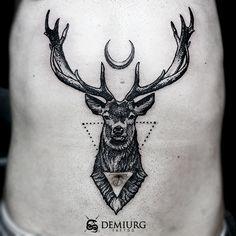 Deer dotwork tattoo 2 by Masachist.deviantart.com on @DeviantArt