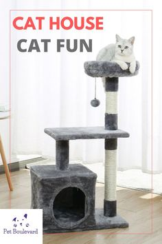 Cat Tree House, Kitten Toys, Cat Climbing, Cat Scratcher, Cat Accessories, Cool Pets, Cats And Kittens, Cute Animals, Kitty