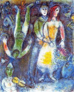 artist-chagall: The flying clown via Marc ChagallSize: 100x81...