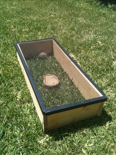 DIY basking cage for my baby sulcata turtle. Used some scrap wood and an old screen top from an old tank I had Tortoise House, Tortoise Habitat, Baby Tortoise, Sulcata Tortoise, Tortoise Care, Turtle Habitat, Turtle Aquarium, Bearded Dragon Cage, Tortoise Enclosure