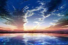 Resultado de imagen para anime background scenery night