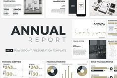 Annual Report PowerPoint Template  by CreativeSlides on @creativemarket