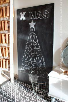 DIY Navidad: Pintar el árbol en un tablero-pizarra - x4duros