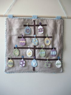 Easter Advent Calendar by raindropstops on Etsy, $65.00