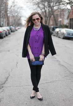 Neon purple Alexander Wang from Brown Eyed Style.