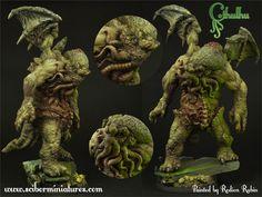 ArtStation - Cthulhu miniatures, Scibor Teleszynski Horror, Lion Sculpture, Miniatures, Statue, Halloween, Artwork, Mint, Box, Cosmic