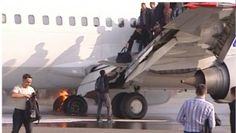 Moscow's Vnukovo Airport was temporarily closed Saturday morning after a plane coming from Stavropol with about 140 people onboard, caught fire during the landing procedure. Fortunately nobody was injured in the incident, reported RIA Novosti (scroll down for video).